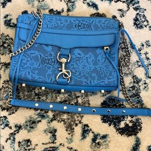 Blue laser cut specialty Rebecca Minkoff crossbody
